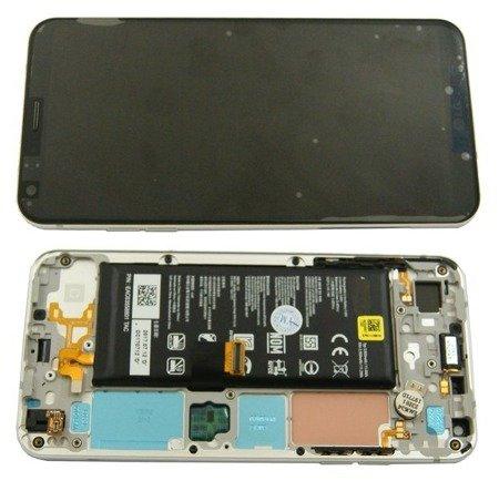 Lg Q6 M700N wyświetlacz LCD+digitizer dotyk ramka bateria titanium