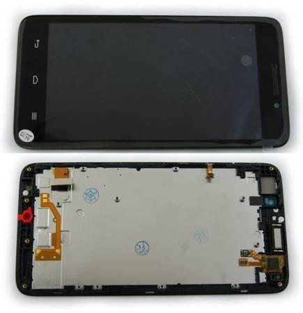 Wyświetlacz LCD+dotyk ramka Huawei G620S L01 czarny